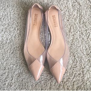 Schutz Clearly pointed flats
